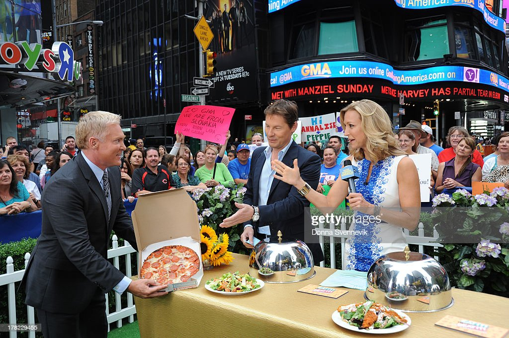 AMERICA - David Zinczenko offers some healthy diet alternatives on 'Good Morning America,' 8/27/13, airing on the ABC Television Network. SAM