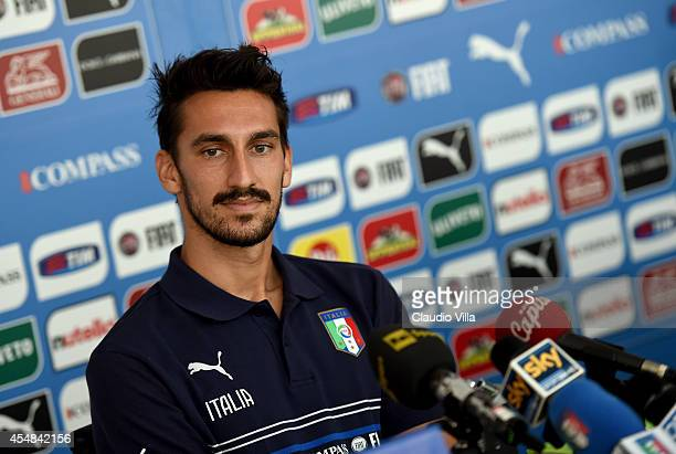 Davide Astori during Italy Press Conference at Coverciano on September 7 2014 in Florence Italy