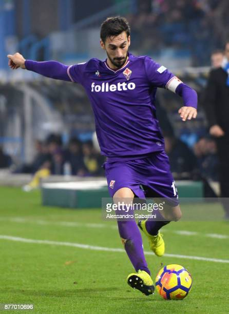 Davide Astori of ACF Fiorentina in action during the Serie A match between Spal and ACF Fiorentina at Stadio Paolo Mazza on November 19 2017 in...