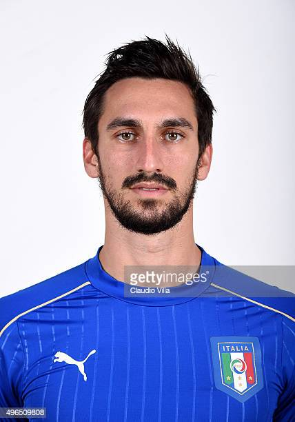 Davide Astori of Italy poses during the official portrait session at Coverciano on November 10 2015 in Florence Italy
