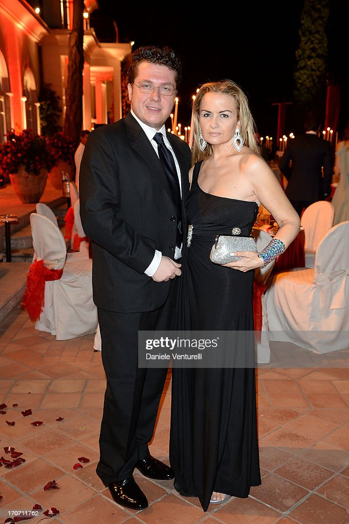 Davide Bertellini and Paola Boscolo attend Taormina Filmfest and Prince Albert II Of Monaco Foundation Gala Dinner at on June 16, 2013 in Taormina, Italy.