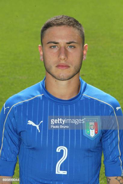 Davide Calabria of Italy U21 poses during the official team photo at Centro Sportivo Fulvio Bernardini on June 14 2017 in Rome Italy