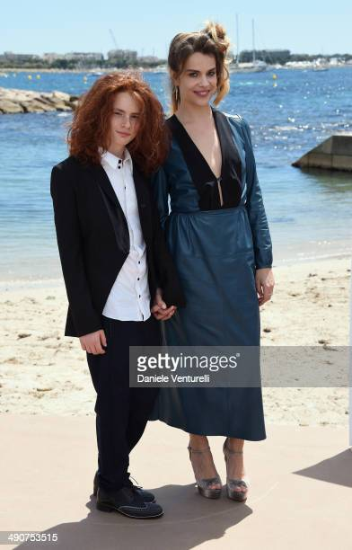 Davide Capone and Micaela Ramazzotti attends the 'Piu' Buio Di Mezzanotte' Photocalll during the 67th Annual Cannes Film Festival on May 15 2014 in...