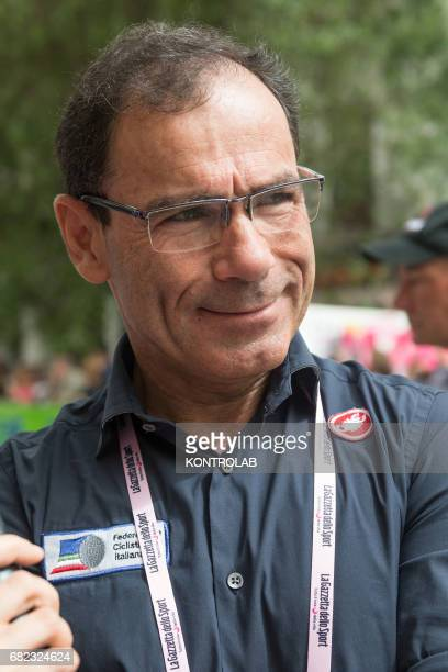 CASTROVILLARI CALABRIA ITALY Davide Cassani CT Italian Cycling Team during the event for the start of the seventh stage of the 100th Giro d'Italia...