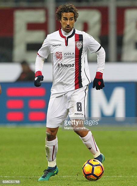 Davide Di Gennaro of Cagliari Calcio in action during the Serie A match between AC Milan and Cagliari Calcio at Stadio Giuseppe Meazza on January 8...