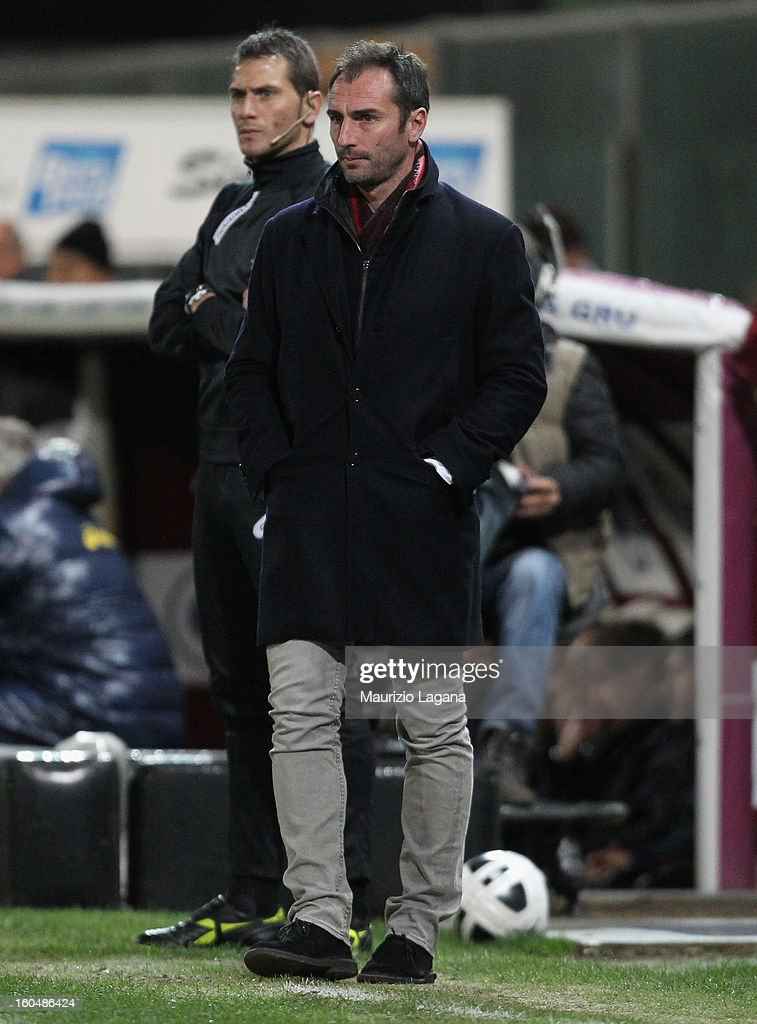 Davide Dionigi head coach of Reggina looks on during the Serie B match between Reggina Calcio and Hellas Verona at Stadio Oreste Granillo on February 1, 2013 in Reggio Calabria, Italy.