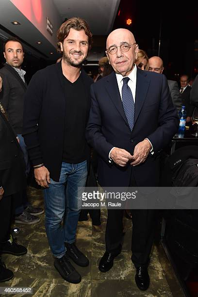 Davide Lippi and Adriano Galliani attend Infront Christmas Party on December 16 2014 in Milan Italy