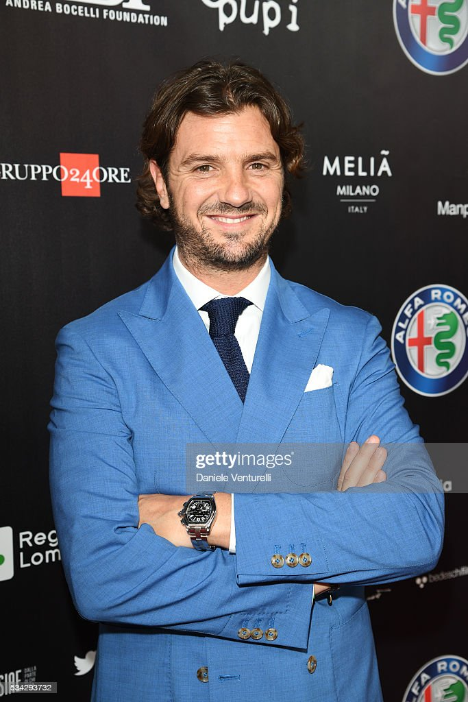 Davide Lippi walks the red carpet of Bocelli and Zanetti Night on May 25, 2016 in Rho, Italy.