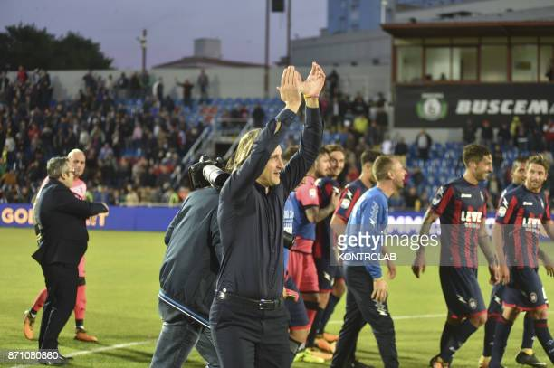 Davide Nicola coach Crotone during the match Fc Crotone vs ACF Fiorentina of Serie A Crotone won 21