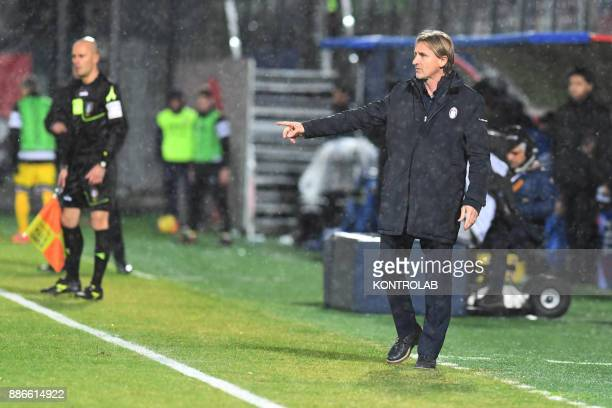 STADIUM CROTONE CALABRIA ITALY Davide Nicola coach of Crotone during the match of Serie A FC Crotone vs Udinese Udinese wins 30