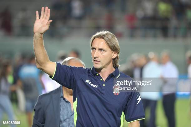 Davide Nicola coach of Crotone during the Serie A match between FC Crotone and AC Milan Milan won 30