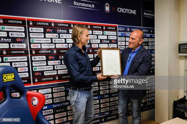 Davide Nicola coach of FC Crotone Calcio receives Honorable Citizenship of Crotone from mayor Ugo Pugliese Davide Nicola will make this trip of 1300...