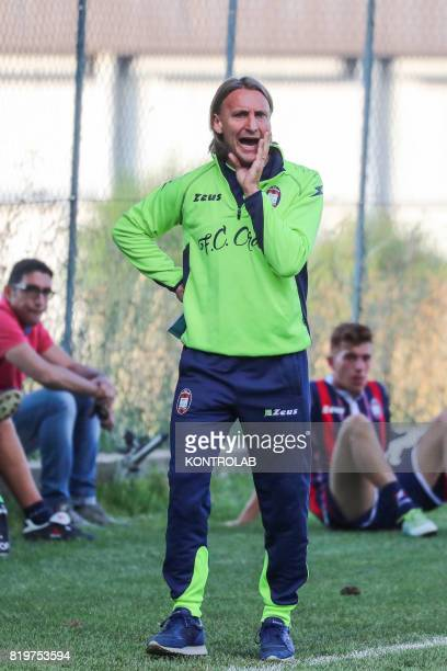 Davide Nicola coach of FC Crotone during a friendly with a local representative at the retreat of Moccone in Sila