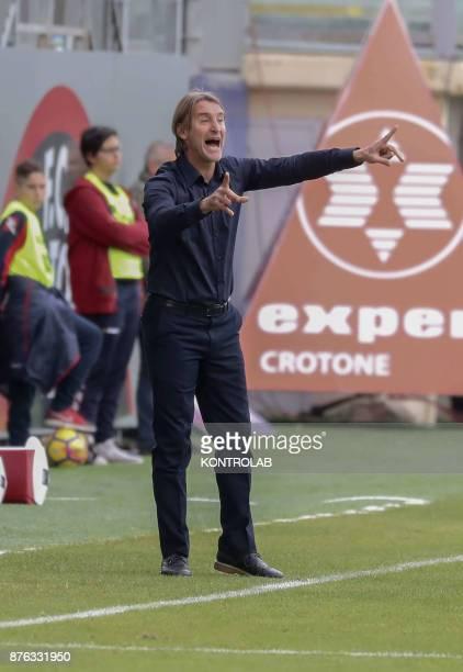 Davide Nicola Crotone coach during the AC Crotone vs Genoa match of Italian Serie A The Genoa wins 10