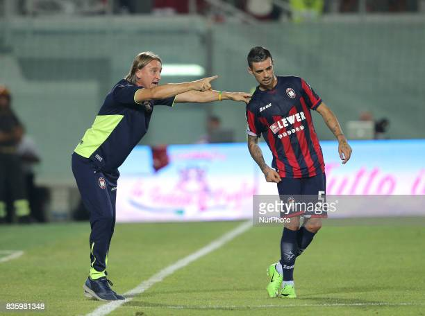 Davide Nicola during the Serie A match between FC Crotone and AC Milan on August 20 2017 in Crotone Italy