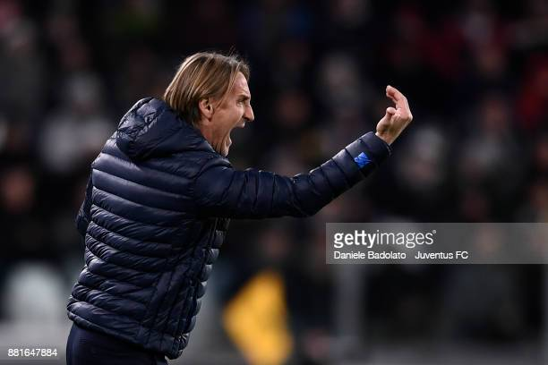 Davide Nicola during the Serie A match between Juventus and FC Crotone at Allianz Stadium on November 26 2017 in Turin Italy