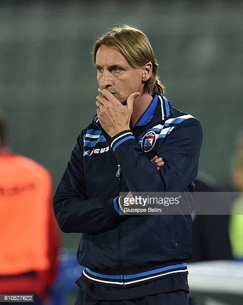 Davide Nicola head coach of FC Crotone during the Serie A match between FC Crotone and Atalanta BC at Adriatico Stadium on September 26 2016 in...