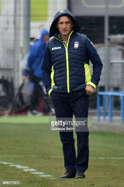 Davide Nicola head coach of FC Crotone during the Serie A match between Spal and FC Crotone at Stadio Paolo Mazza on October 1 2017 in Ferrara Italy
