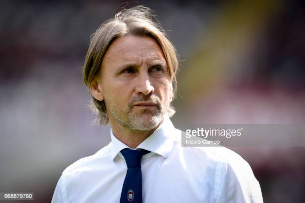 Davide Nicola head coach of FC Crotone looks on prior to the Serie A football match between Torino FC and FC Crotone Final result is 11