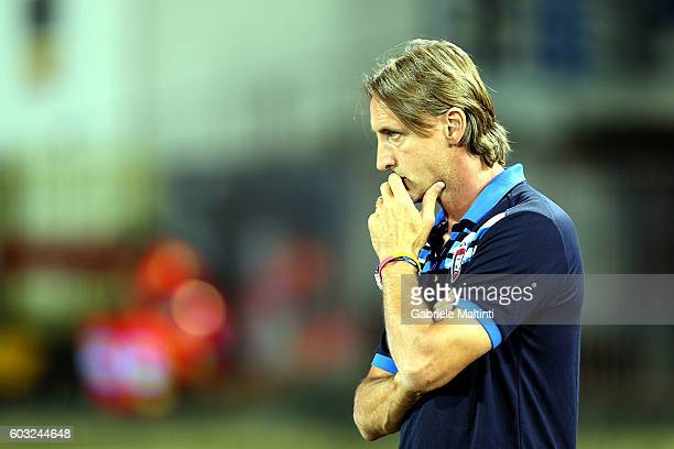 Davide Nicola manager of FC Crotone during the Serie A match between Empoli FC and FC Crotone at Stadio Carlo Castellani on September 12 2016 in...