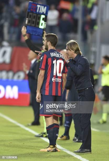 Davide Nicola talks with Andrea Barberis Crotone during the match Fc Crotone vs ACF Fiorentina of Serie A Crotone won 21
