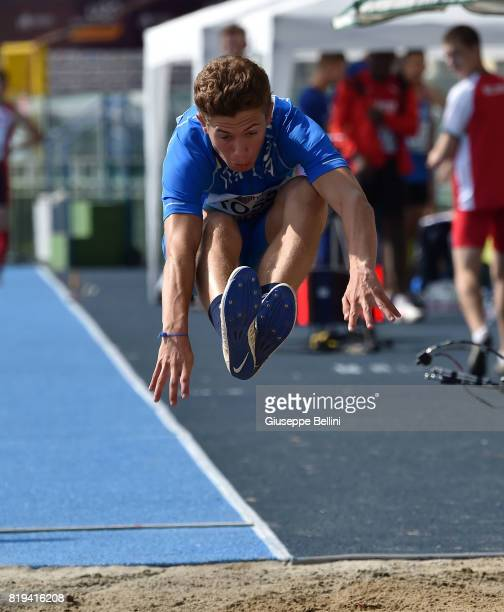 Davide Rossi of Italy in action during European Athletics U20 Championships on July 20 2017 in Grosseto Italy
