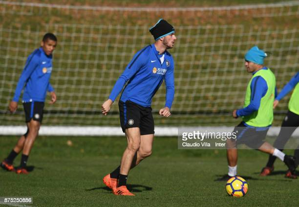 Davide Santon of FC Internazionale in action during the FC Internazionale training session at Suning Training Center at Appiano Gentile on November...