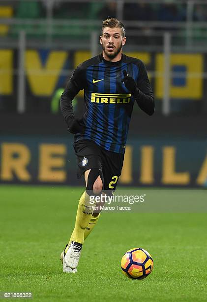Davide Santon of FC Internazionale in action during the Serie A match between FC Internazionale and FC Crotone at Stadio Giuseppe Meazza on November...