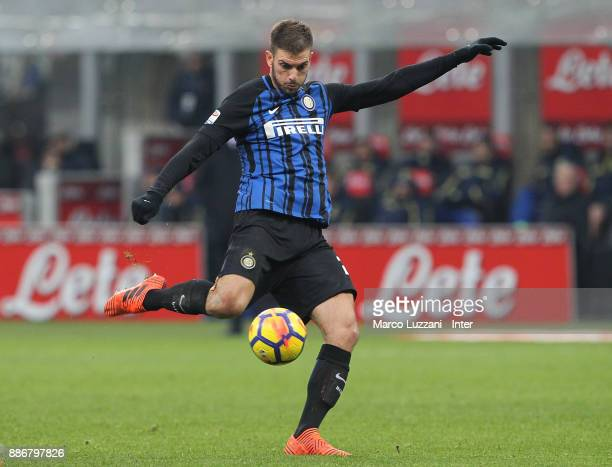 Davide Santon of FC Internazionale in action during the Serie A match between FC Internazionale and AC Chievo Verona at Stadio Giuseppe Meazza on...