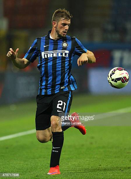 Davide Santon of FC Internazionale Milano in action during the Serie A match between FC Internazionale Milano and Empoli FC at Stadio Giuseppe Meazza...