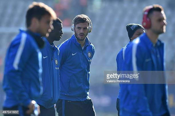 Davide Santon of FC Internazionale Milano listens to music on his headphones prior to the Serie A match between Torino FC and FC Internazionale...