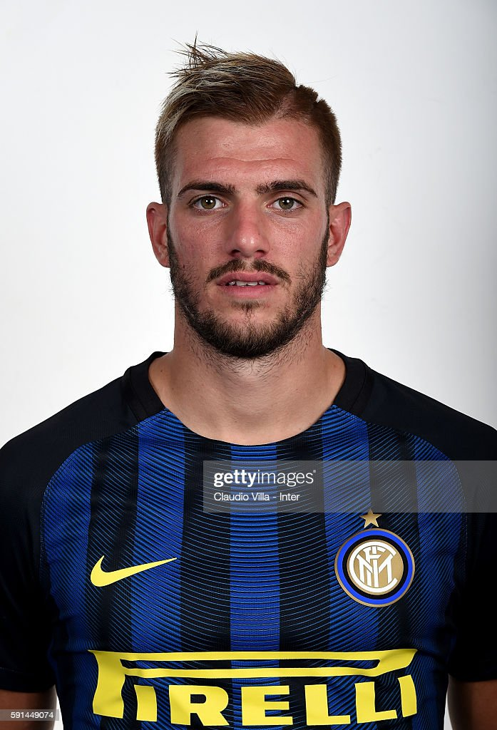 Davide Santon of FC Internazionale poses during the official portrait session at Appiano Gentile on August 16 2016 in Como Italy