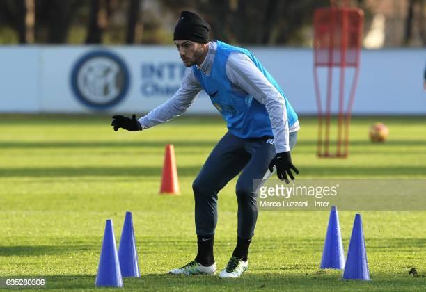 Davide Santon of FC Internazionale trains during the FC Internazionale training session at the club's training ground Suning Training Center in...