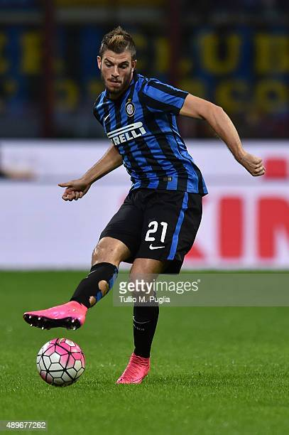 Davide Santon of Internazionale Milano in action during the Serie A match between FC Internazionale Milano and Hellas Verona FC at Stadio Giuseppe...
