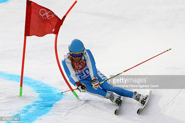 Davide Simoncelli of Italy competes during the Alpine Skiing Men's Giant Slalom at the Sochi 2014 Winter Olympic Games at Rosa Khutor Alpine Centre...