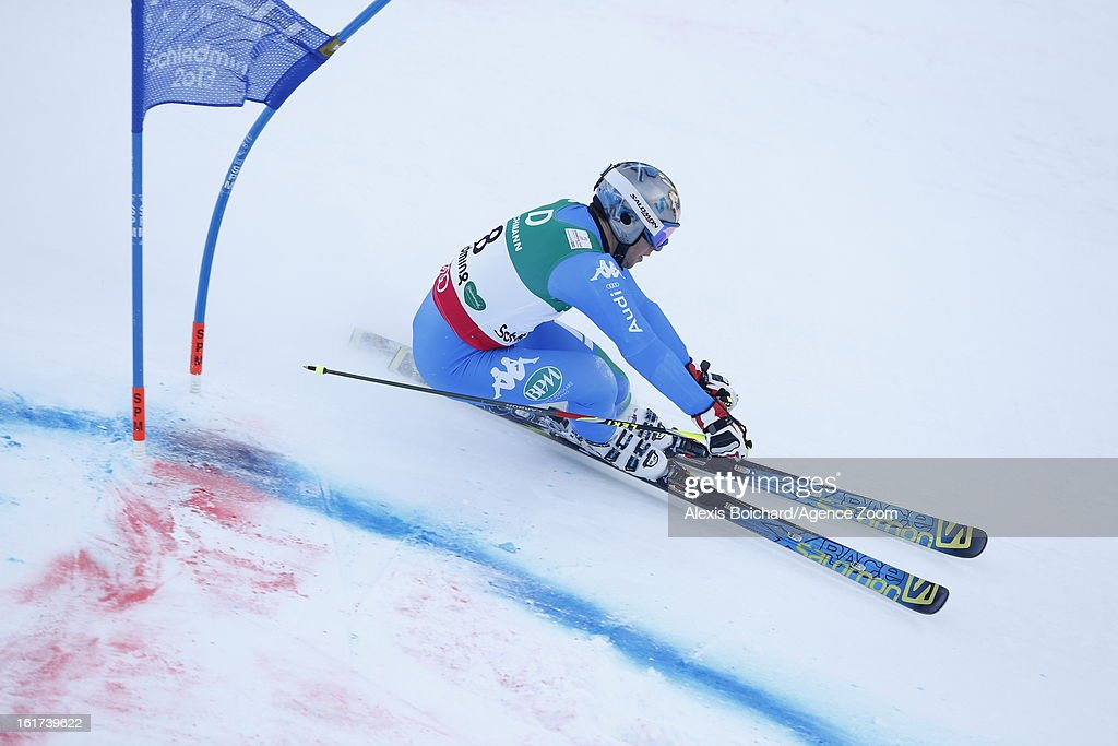 Davide Simoncelli of Italy competes during the Audi FIS Alpine Ski World Championships Men's Giant slalom on February 15, 2013 in Schladming, Austria.
