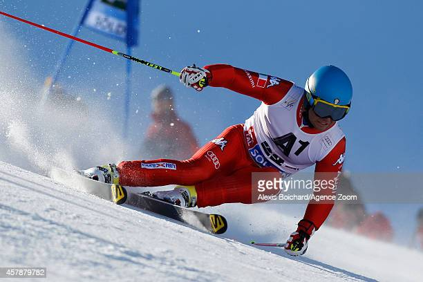 Davide Simoncelli of Italy competes during the Audi FIS Alpine Ski World Cup Men's Giant Slalom on October 26 2014 in Soelden Austria