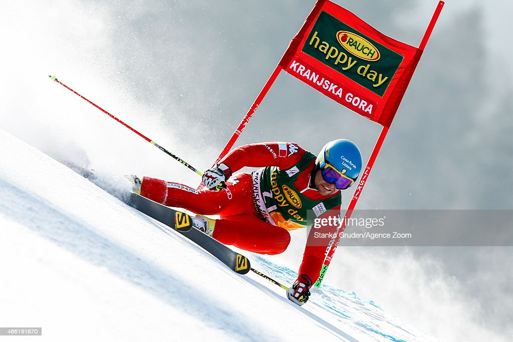 <a gi-track='captionPersonalityLinkClicked' href=/galleries/search?phrase=Davide+Simoncelli&family=editorial&specificpeople=247211 ng-click='$event.stopPropagation()'>Davide Simoncelli</a> of Italy competes during the Audi FIS Alpine Ski World Cup Men's Giant Slalom on March 14, 2015 in Kranjska Gora, Slovenia.