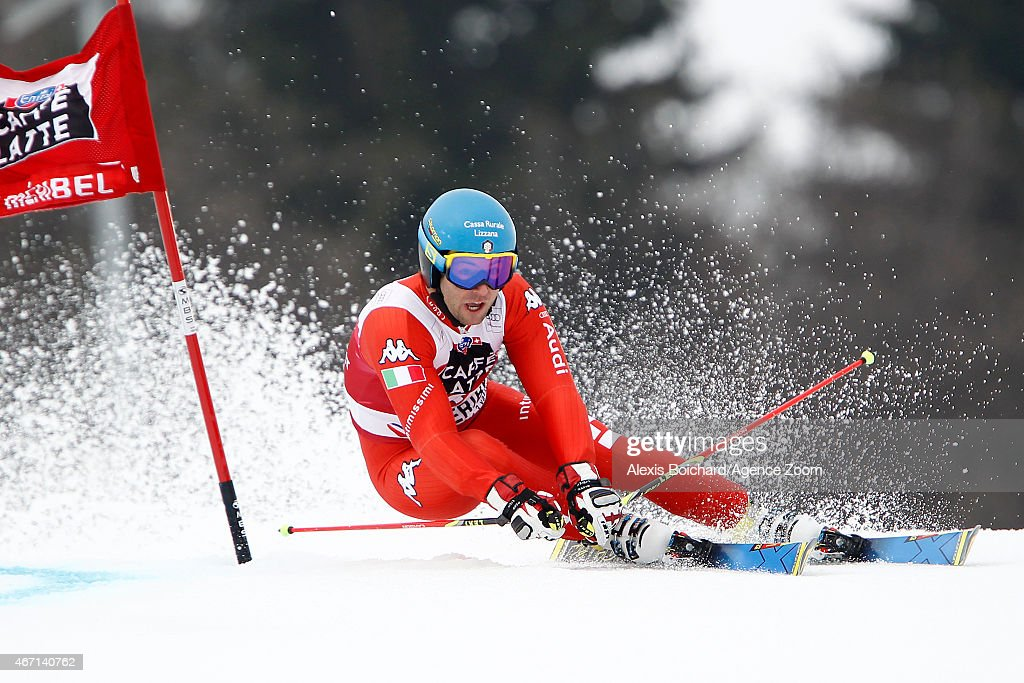 <a gi-track='captionPersonalityLinkClicked' href=/galleries/search?phrase=Davide+Simoncelli&family=editorial&specificpeople=247211 ng-click='$event.stopPropagation()'>Davide Simoncelli</a> of Italy competes during the Audi FIS Alpine Ski World Cup Finals Men's Giant Slalom on March 21, 2015 in Meribel, France.