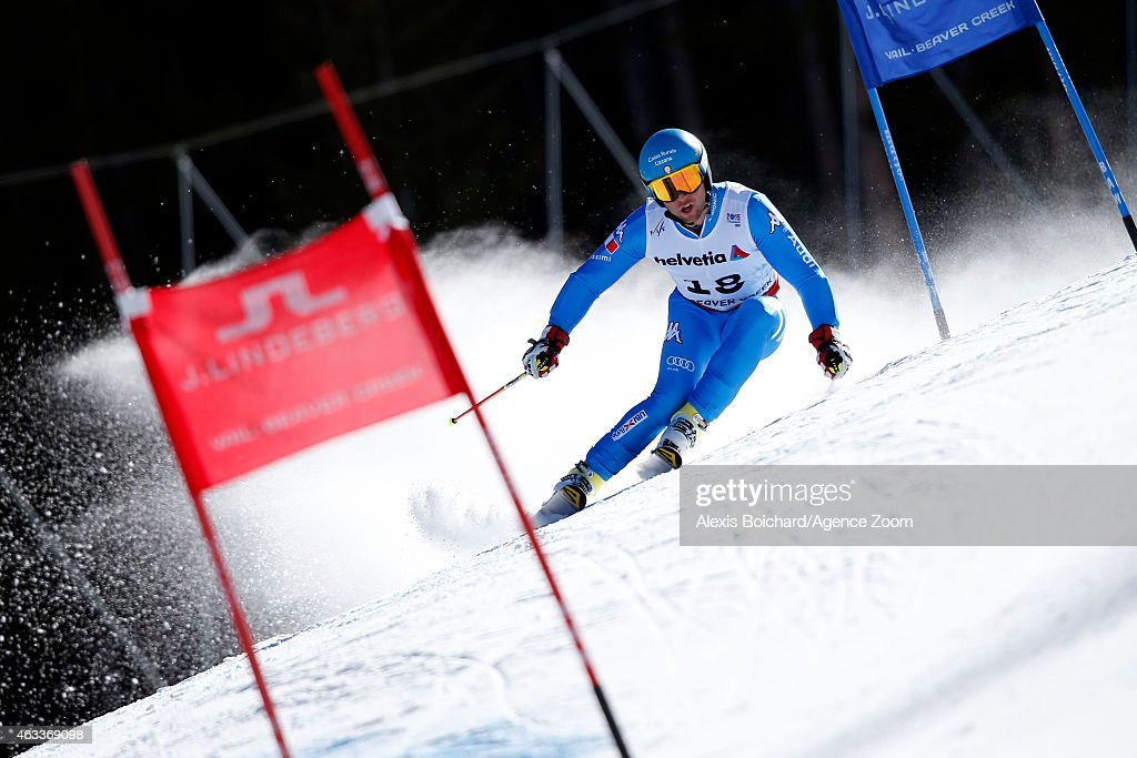 <a gi-track='captionPersonalityLinkClicked' href=/galleries/search?phrase=Davide+Simoncelli&family=editorial&specificpeople=247211 ng-click='$event.stopPropagation()'>Davide Simoncelli</a> of Italy competes during the FIS Alpine World Ski Championships Men's Giant Slalom on February 13, 2015 in Beaver Creek, Colorado.