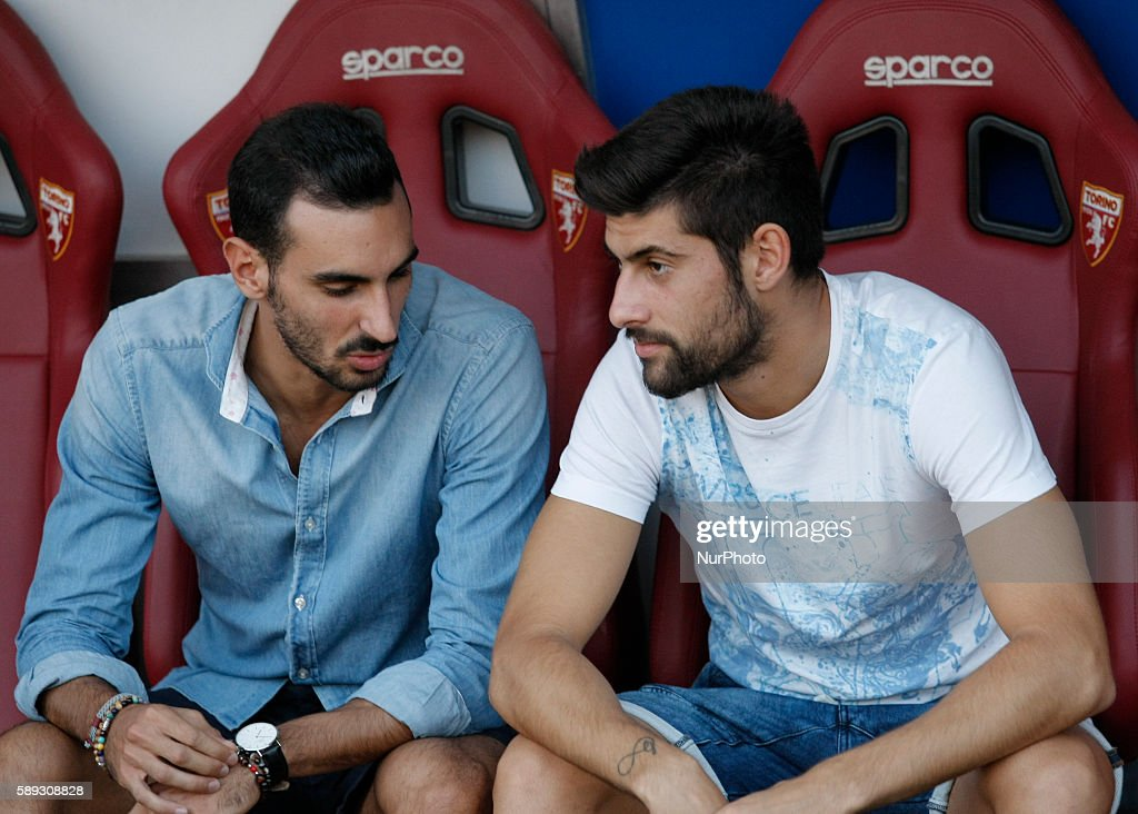 Davide Zappacosta and Marco Benassi before the Tim Cup 20162017 match between Torino FC and FC Pro Vercelli at the Olympic Stadium of Turin on august...