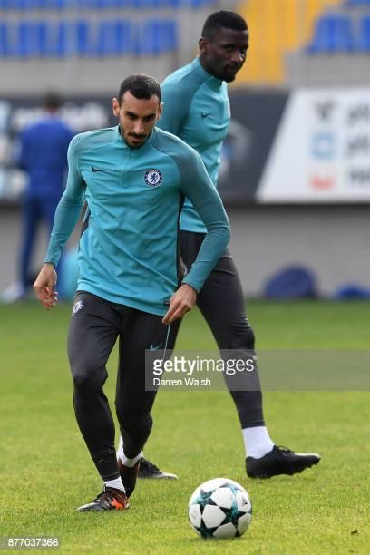 Davide Zappacosta of Chelsea during a training session at Bakcell Arena on November 21 2017 in Baku Azerbaijan