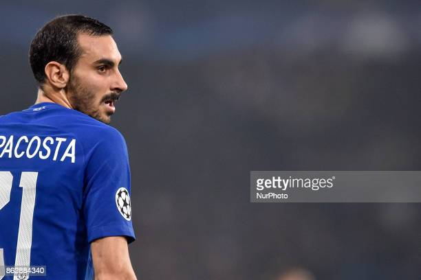 Davide Zappacosta of Chelsea during the UEFA Champions League match between Chelsea v AS Roma at Stamford Bridge Stadium London United Kingdom on 18...
