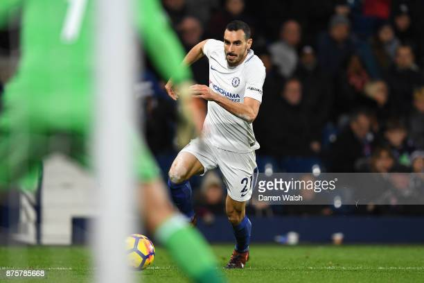 Davide Zappacosta of Chelsea in action during the Premier League match between West Bromwich Albion and Chelsea at The Hawthorns on November 18 2017...