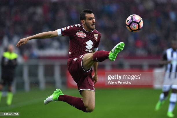Davide Zappacosta of FC Torino in action during the Serie A match between FC Torino and Udinese Calcio at Stadio Olimpico di Torino on April 2 2017...