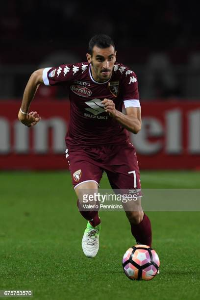 Davide Zappacosta of FC Torino in action during the Serie A match between FC Torino and UC Sampdoria at Stadio Olimpico di Torino on April 29 2017 in...