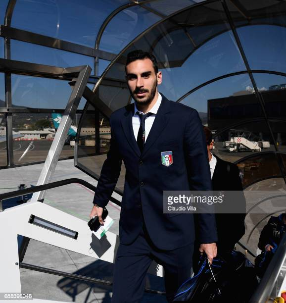 Davide Zappacosta of Italy departs for Amsterdam on March 27 2017 in Florence Italy