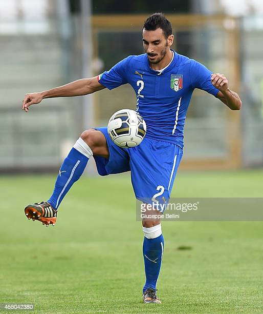 L'AQUILA ITALY SEPTEMBER 09 Davide Zappacosta of Italy in action during the 2015 UEFA European U21 Championships Qualifier match between Italy U21...