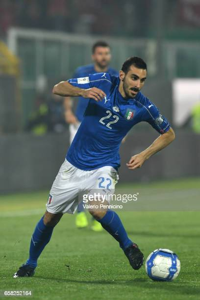 Davide Zappacosta of Italy in action during the FIFA 2018 World Cup Qualifier between Italy and Albania at Stadio Renzo Barbera on March 24 2017 in...