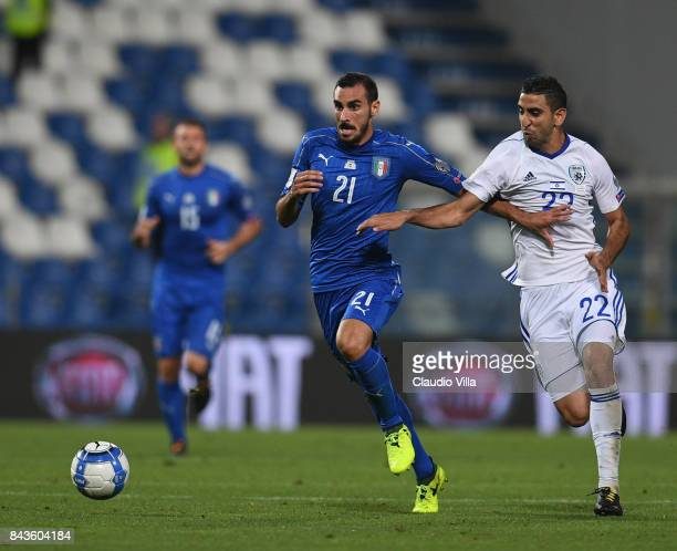 Davide Zappacosta of Italy in action during the FIFA 2018 World Cup Qualifier between Italy and Israel at Mapei Stadium Citta' del Tricolore on...
